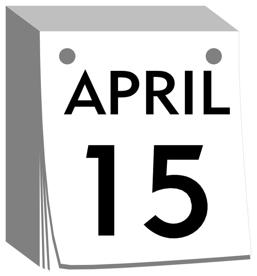 Free black and white mark your calendar clipart