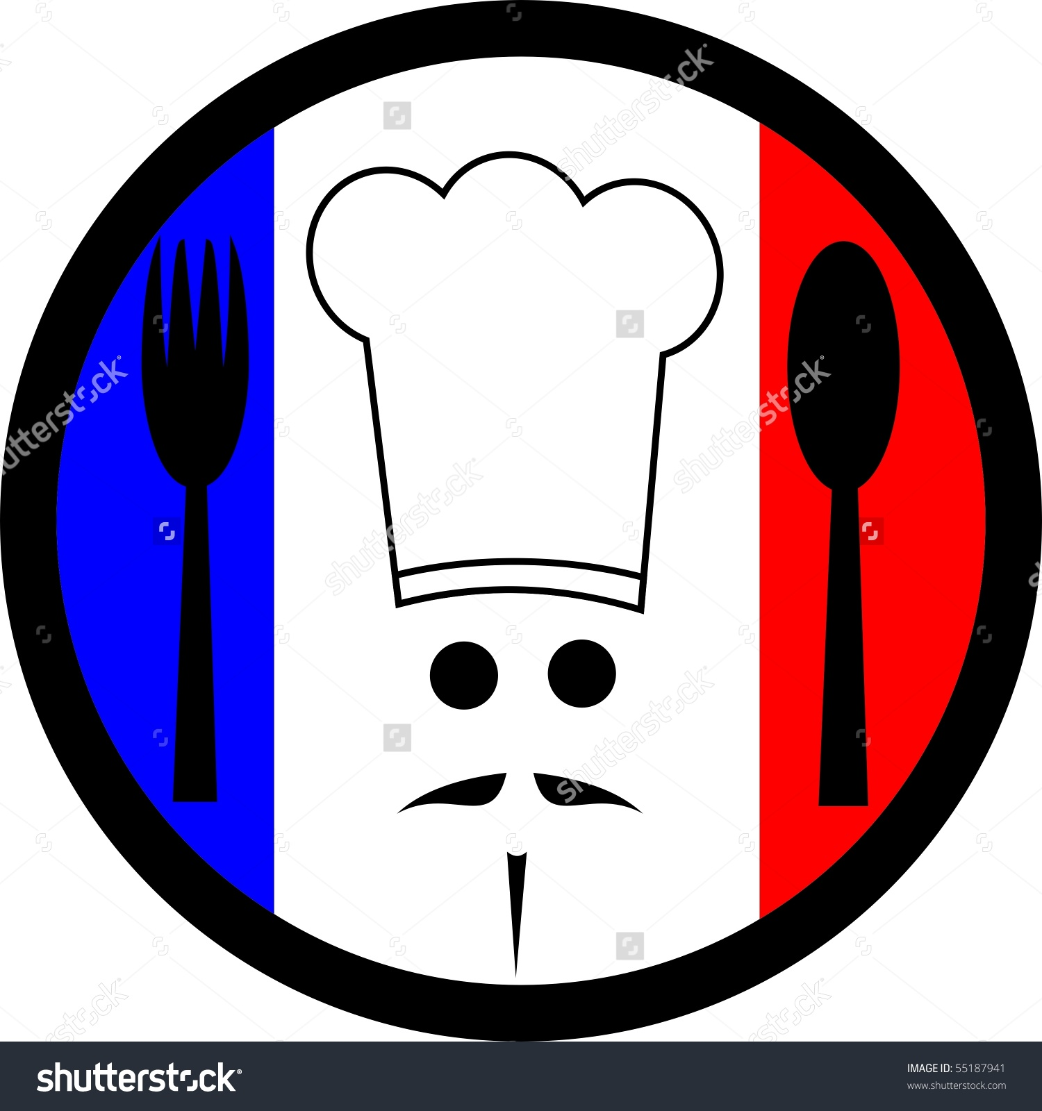 French chef clipart clip black and white download French Chef Stock Illustration 55187941 - Shutterstock clip black and white download