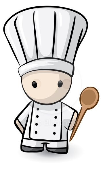 French chef clipart png black and white stock ClipArt Illustration Cute French Inspired Chef du Jour, of Haute ... png black and white stock