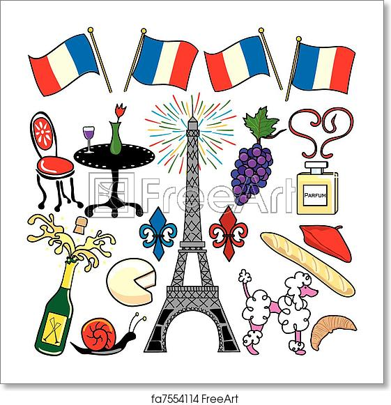 Parisian clipart free vector freeuse stock Free art print of Paris France clipart elements icons vector freeuse stock