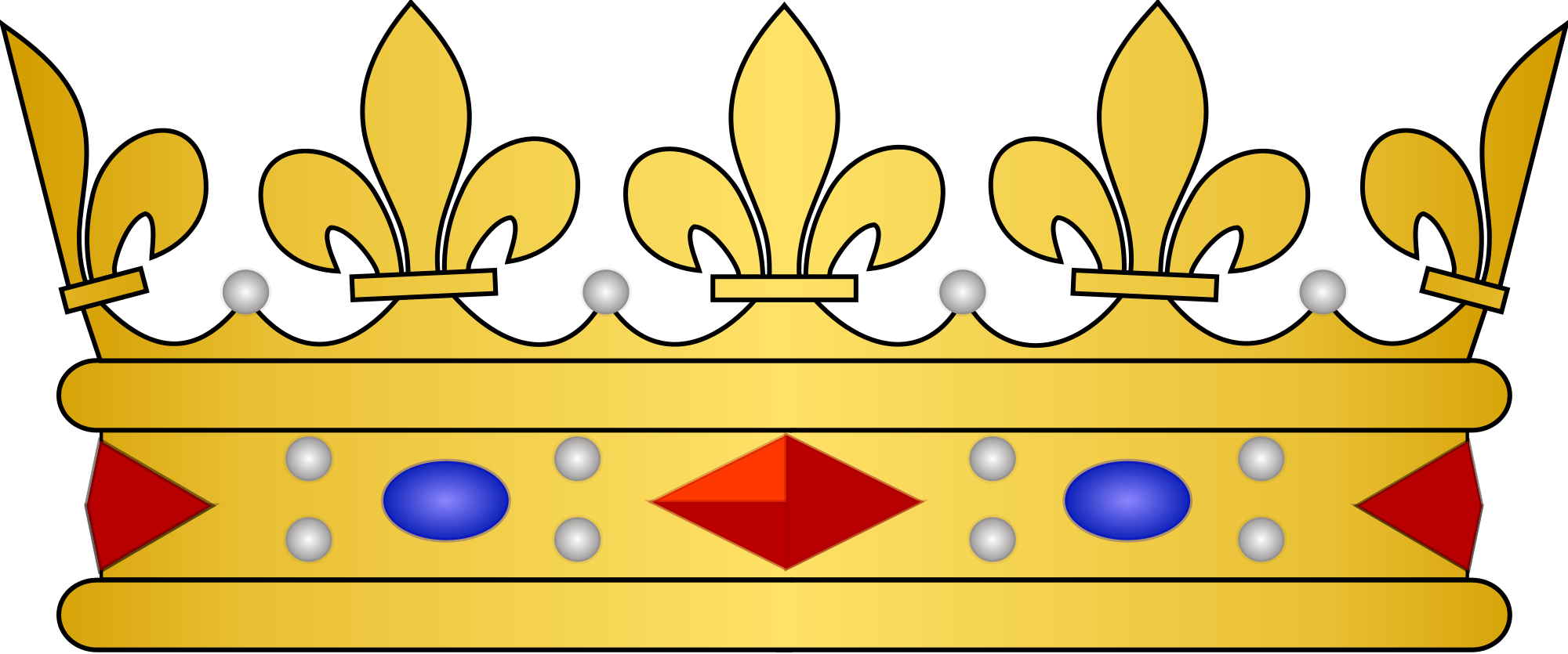 French crown clipart banner black and white stock File:French heraldic crowns - Prince de sang royal.svg - Wikimedia ... banner black and white stock