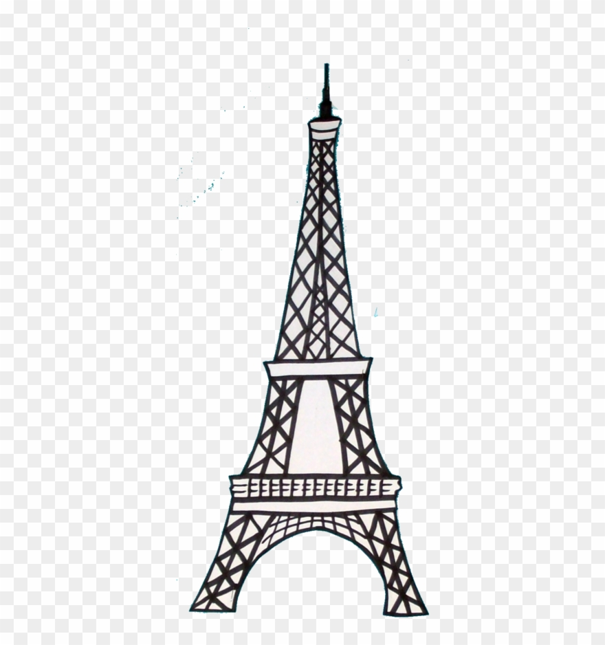 French eiffel tower clipart freeuse download Tower Clipart Basic - French Eiffel Tower Drawing - Png Download ... freeuse download