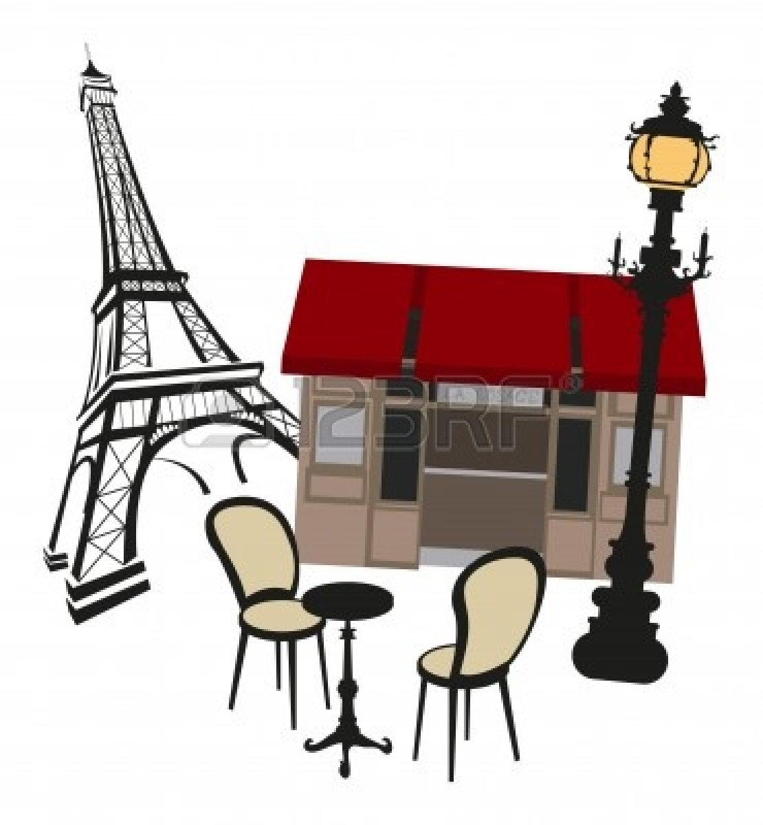 French restaurant clipart vector French bistro clipart » Clipart Station vector