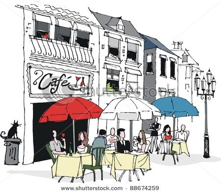 French restaurant clipart clip library french cafe | Français: Cafés, Bistros, Restaurants in 2019 | French ... clip library