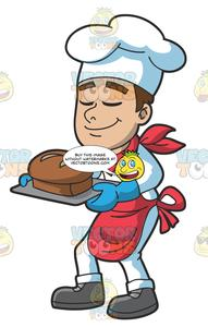 Fresh bread clipart library A Chef Smelling A Loaf Of Fresh Bread library