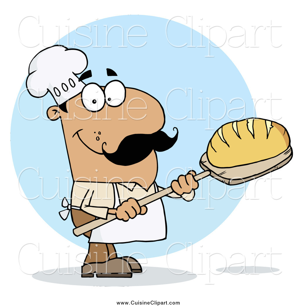 Fresh bread clipart clipart library download Cuisine Clipart of a Hispanic Baker Man with Fresh Bread by Hit Toon ... clipart library download