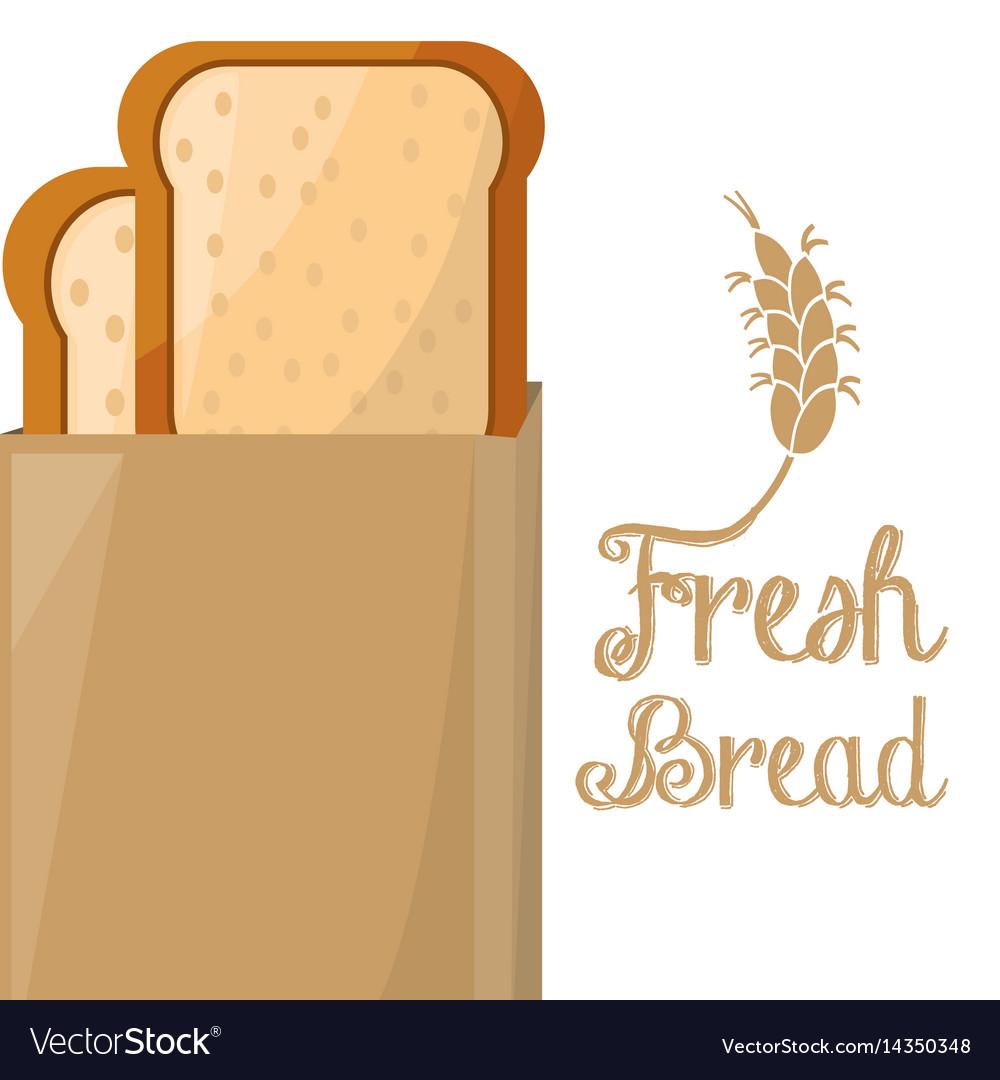 Fresh bread clipart jpg freeuse stock Fresh bread slice loaf paper bag shop jpg freeuse stock