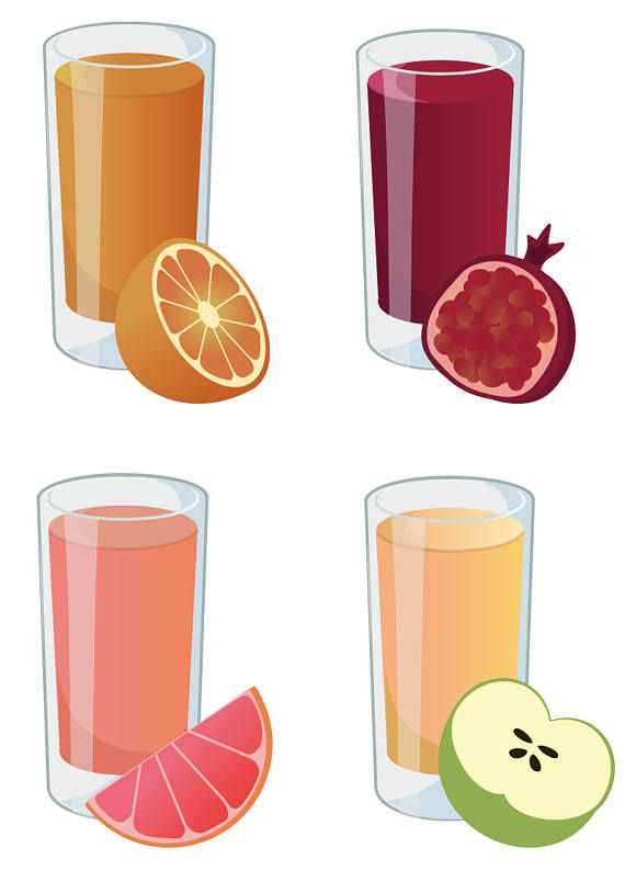 Fresh juice clipart picture library stock JUICE CLIPART - fresh smoothie icons, printable health clipart ... picture library stock