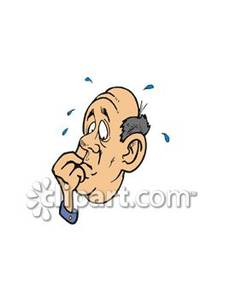 Fretful clipart vector royalty free Cartoon of a Fretful Man - Royalty Free Clipart Picture vector royalty free