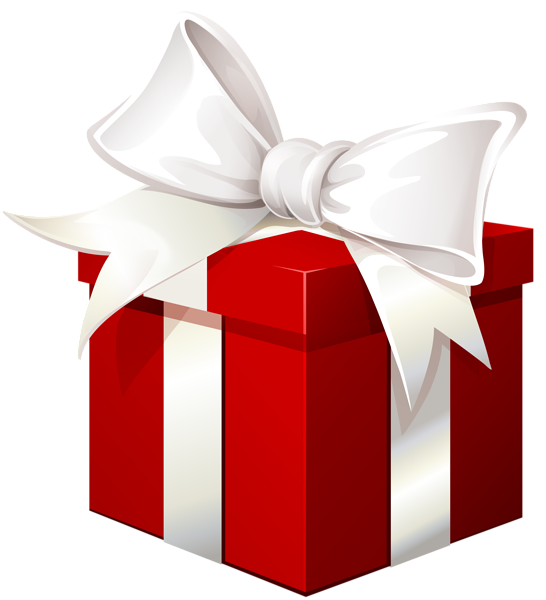 Frfree gift money clipart picture black and white library Red Gift Box with White Bow Transparent PNG Image | ClipArt ... picture black and white library