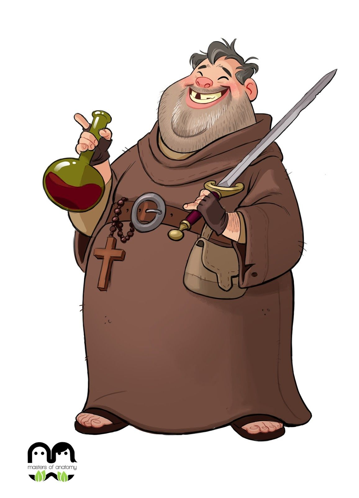 Friar tuck clipart graphic transparent stock Odio Tó | Friar Tuck | Fantasy Art in 2019 | Character design ... graphic transparent stock