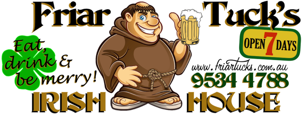 Friar tuck clipart svg transparent Friar Tuck\'s Menu | Irish Food & Hospitality at its Best! svg transparent