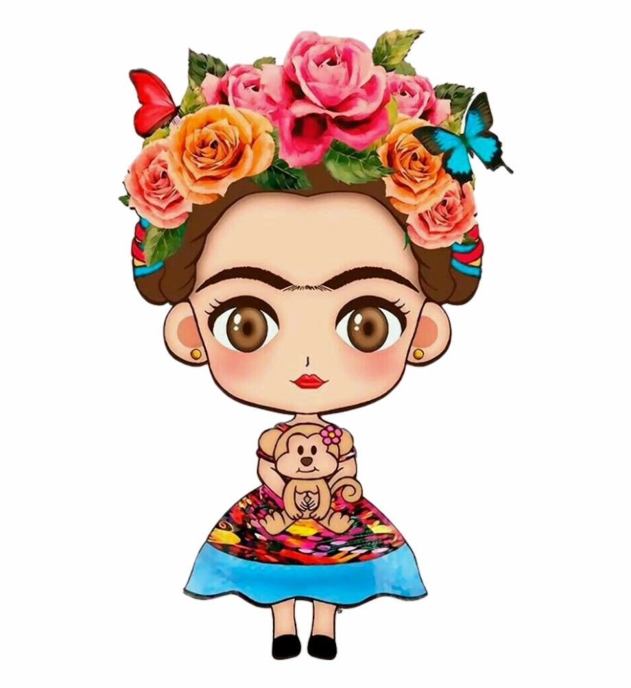 Frida kahlo clipart free freeuse library Download Free png fridakahlo #girl #mexican #flowe#tumblr Frida ... freeuse library