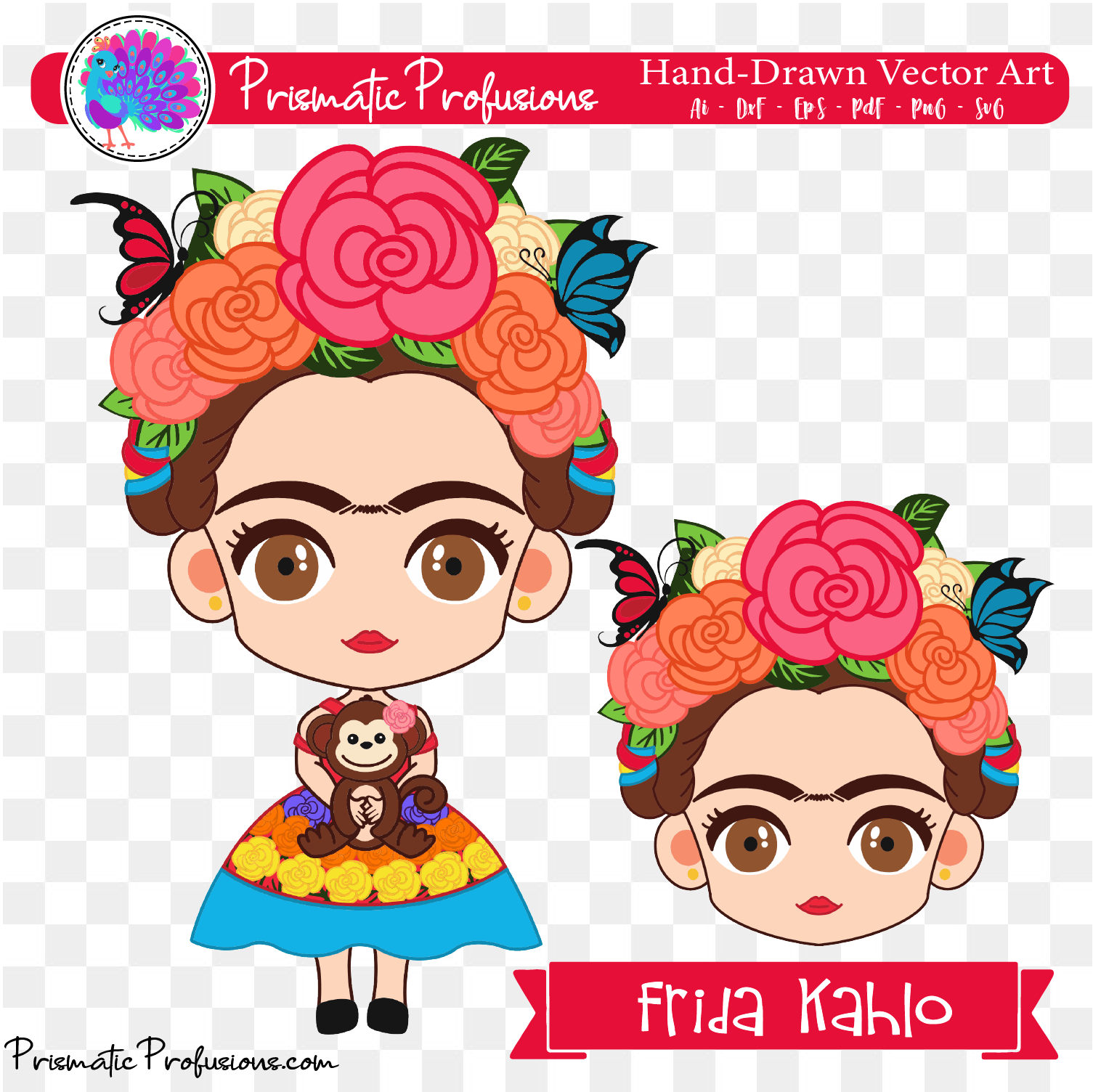 Frida kahlo vector clipart vector library download Frida Kahlo SVG, Frida Kahlo Clipart vector library download