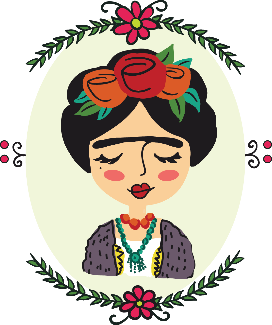 Frida kahlo vector clipart picture free download Frida Kahlo illustration on Behance | aesthetic in 2019 | Frida ... picture free download