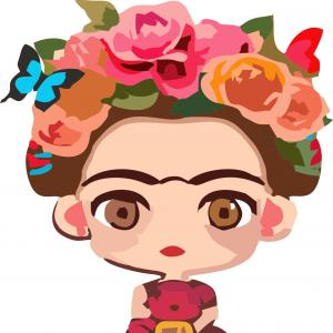 Frida kahlo vector clipart download Portrait Frida Kahlo Vector Illustration Isolated | GeekChicPro download