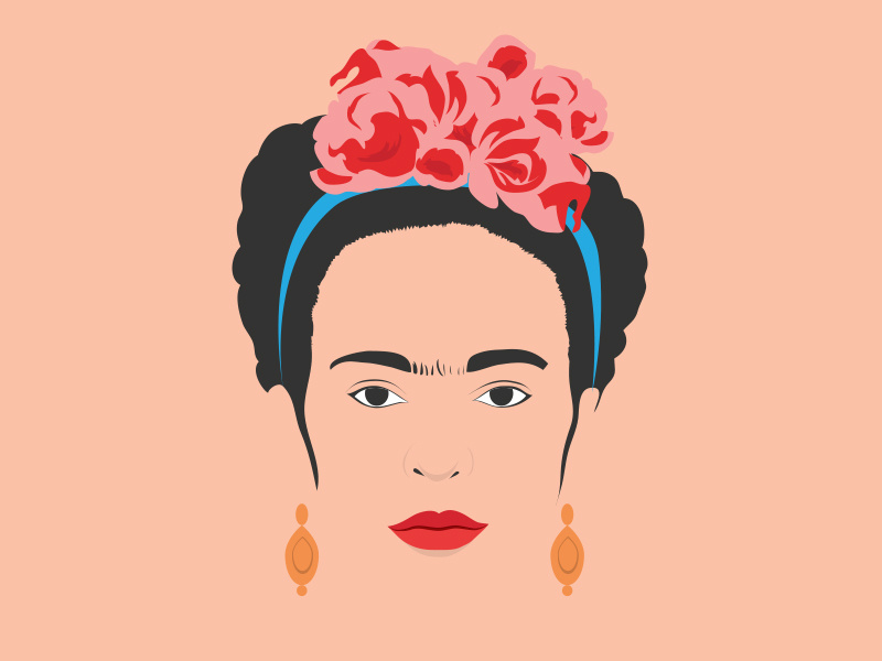 Frida kahlo vector clipart clipart black and white download Frida Kahlo by Teo Yu Siang on Dribbble clipart black and white download