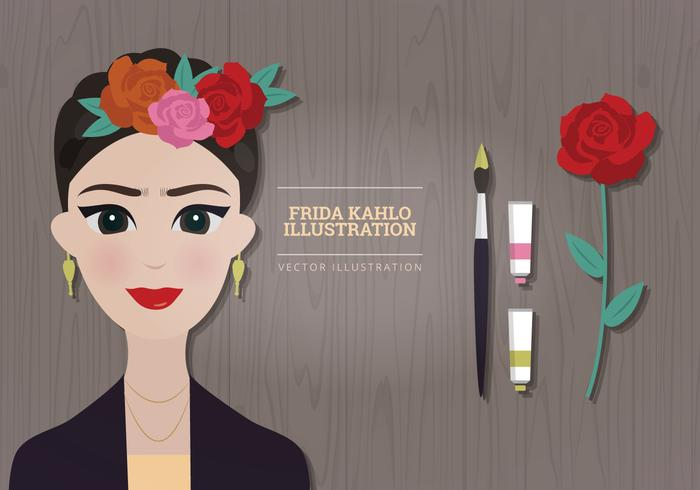 Frida kahlo vector clipart clip royalty free stock Frida Kahlo Vector Illustration - Download Free Vectors, Clipart ... clip royalty free stock