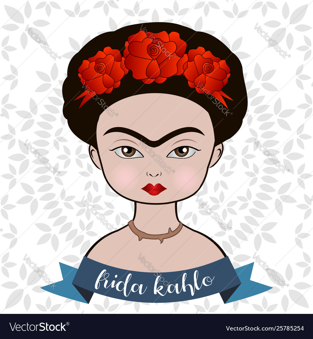 Frida kahlo vector clipart clip art stock Frida kahlo portrait clip art stock