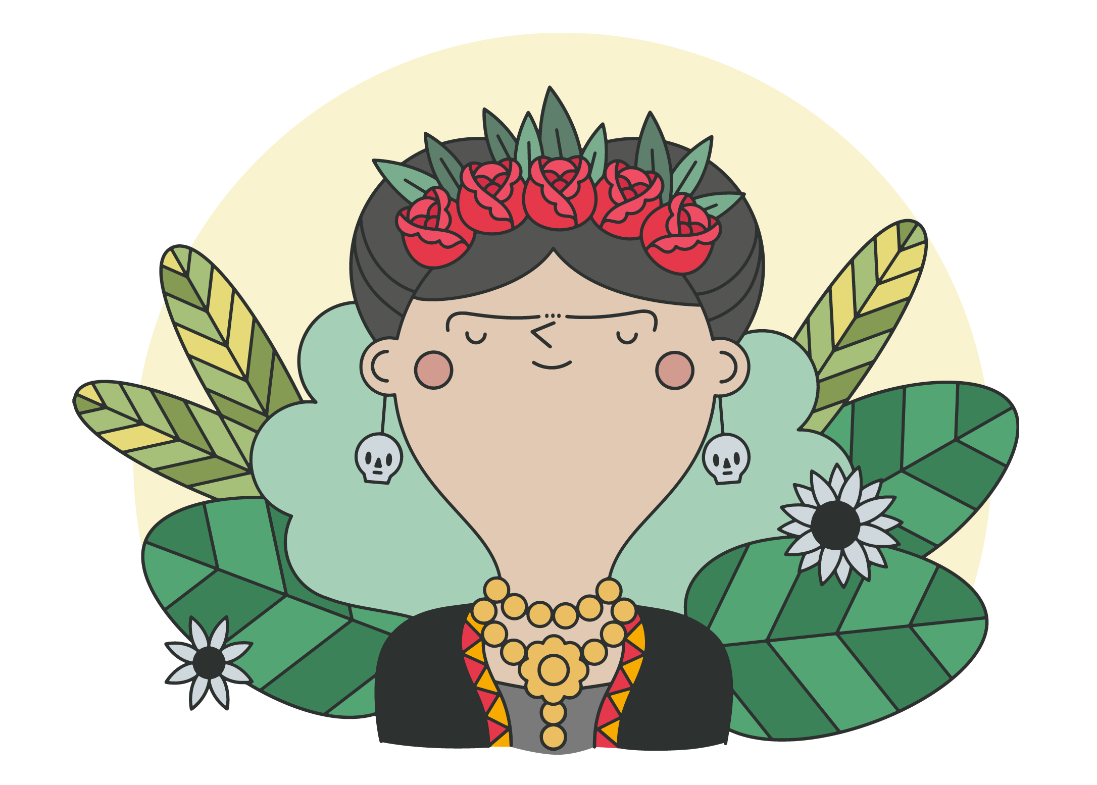 Frida kahlo vector clipart jpg freeuse stock Frida Kahlo Free Vector Art - (1,008 Free Downloads) jpg freeuse stock