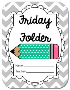 Friday folder clipart svg royalty free library 8 Best Friday folders images in 2014 | Classroom organization ... svg royalty free library