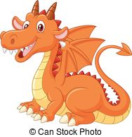 Friendly dragon clipart banner royalty free download Orange dragon Clipart Vector Graphics. 1,994 Orange dragon EPS clip ... banner royalty free download