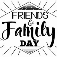Friends and family day clipart svg black and white Family and friends day clipart 2 » Clipart Station svg black and white
