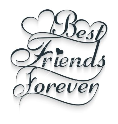 Friends clipart text svg free Best friends forever calligraphy text vector | Clipart and Wallpaper ... svg free