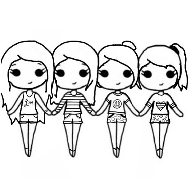 Friends hanging out clipart blond and black vector royalty free download Friends Drawing | Free download best Friends Drawing on ClipArtMag.com vector royalty free download