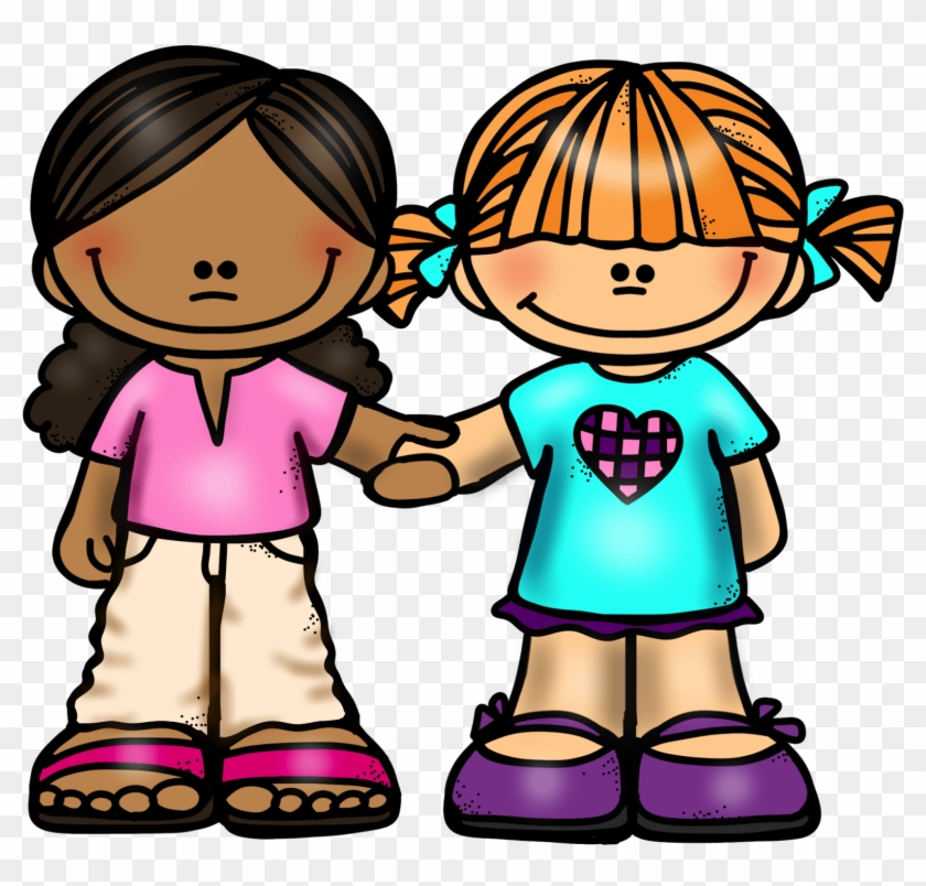Friends holding hands clipart svg library Girl Friends Holding Hands - Clip Art Two Friends, HD Png Download ... svg library
