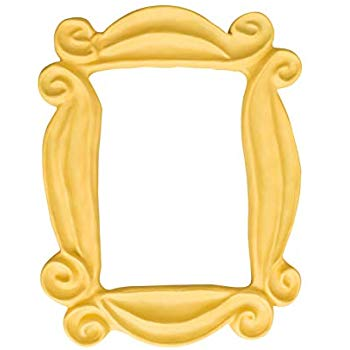 Friends peephole frame clipart banner black and white download Amazon.com - Handmade Yellow Peephole Frame as seen on Monica\'s Door ... banner black and white download