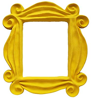 Friends peephole frame clipart picture library Yellow Friends Frame Peephole Door Frame Resin Handmade picture library
