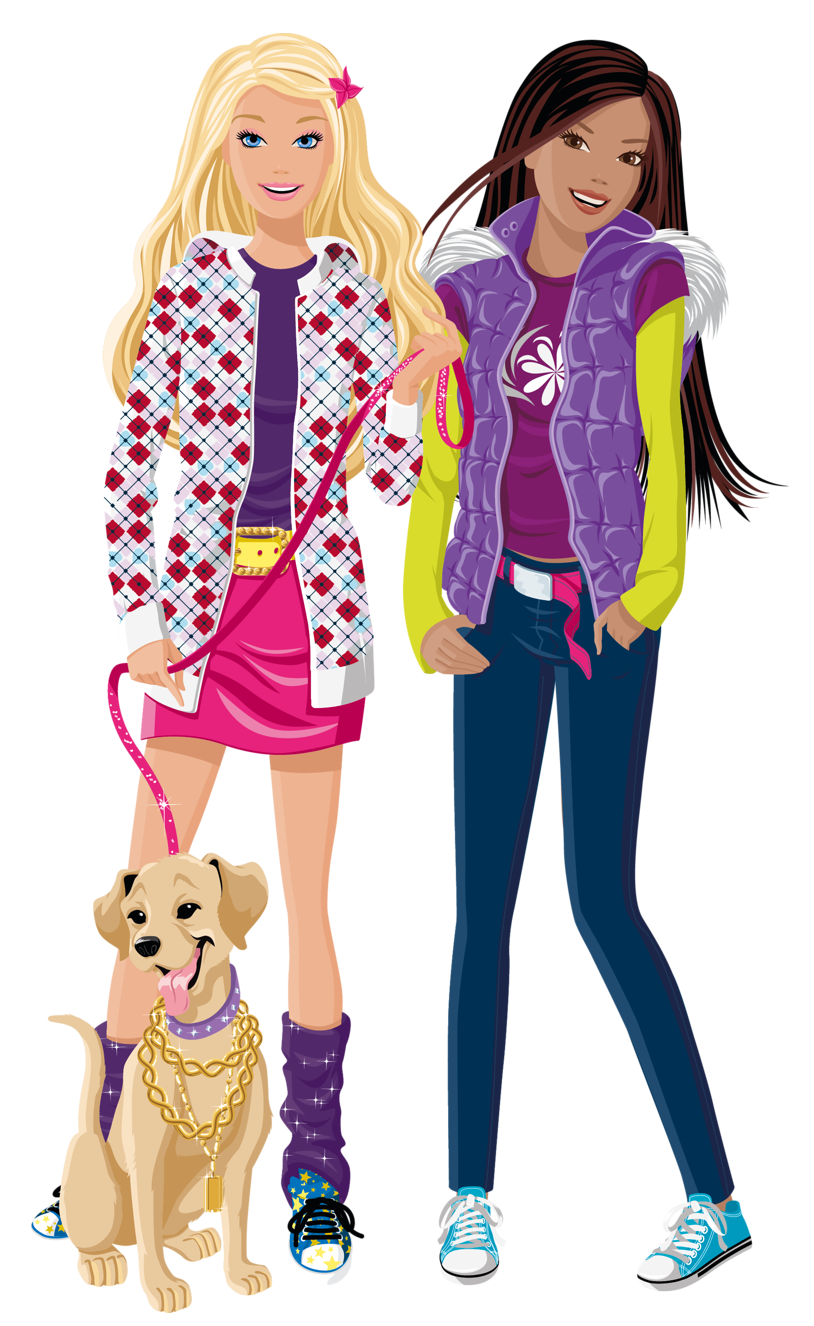 Friends school clipart clip royalty free stock Barbie and Friend PNG Image | Gallery Yopriceville - High-Quality ... clip royalty free stock
