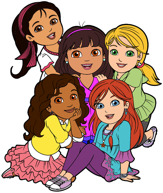School cleaning clipart graphic library School Friends Clipart dora and friends clipart cartoon clip art ... graphic library