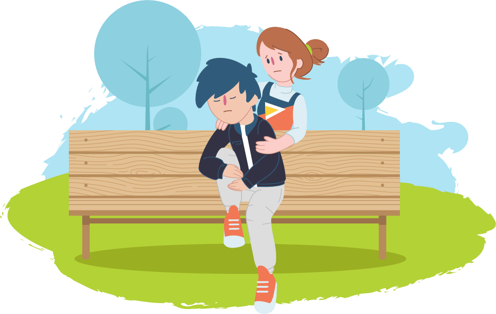 Friends talking at school clipart free library My friend is thinking about suicide | Kids Helpline free library