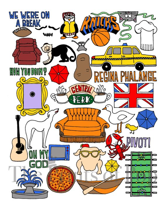 Friends tv show clipart