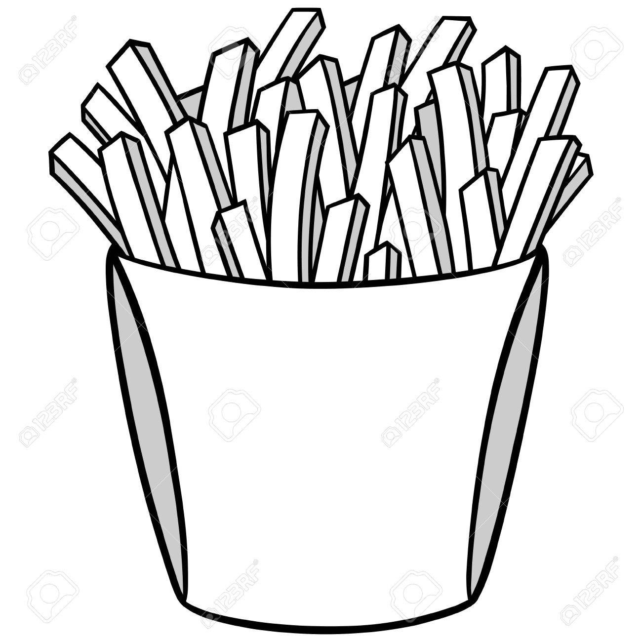 Fries black and white clipart clip art transparent French Fries Clipart Black And White (97+ images in Collection) Page 1 clip art transparent