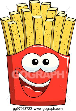 Fries cartoon clipart jpg free Vector Art - Cartoon french fries character isolated. EPS clipart ... jpg free