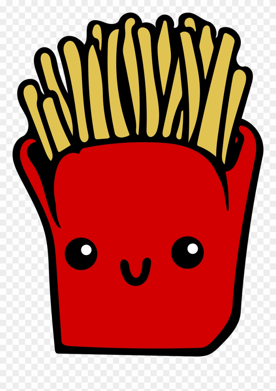 Fries cartoon clipart graphic freeuse library French Fries Fast Food Cartoon Junk Food Potato Chip - Kawaii Fries ... graphic freeuse library