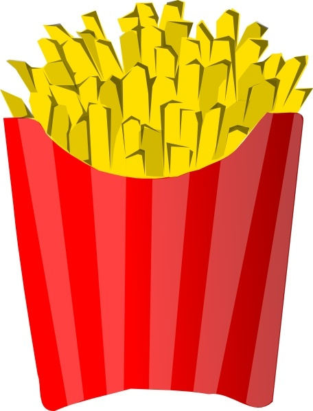 Fries clipart png black and white French Fries clip art Free vector in Open office drawing svg ( .svg ... png black and white