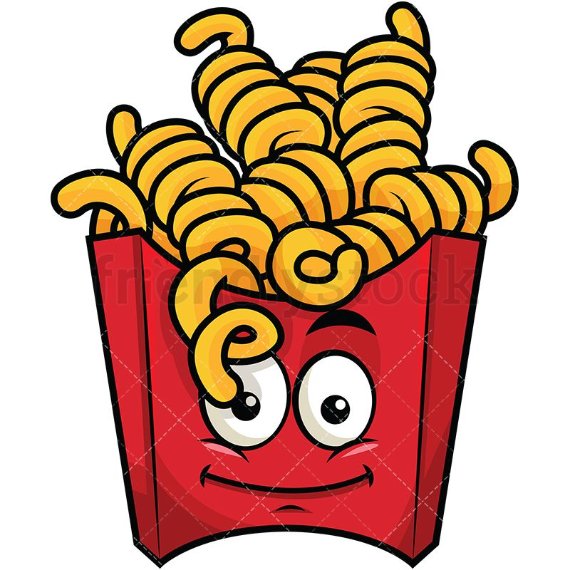 Walking fries clipart picture library download Curly French Fries Emoji | Graphic Illustrations in 2019 | Emoji ... picture library download