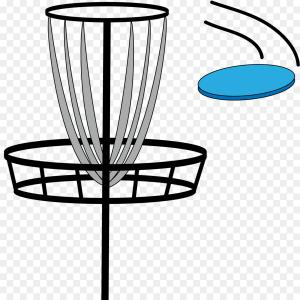 Frisbee golf clipart disc flying png freeuse library Stock Illustration Disc Golf Basket Flying Frisbee Image | GeekChicPro png freeuse library