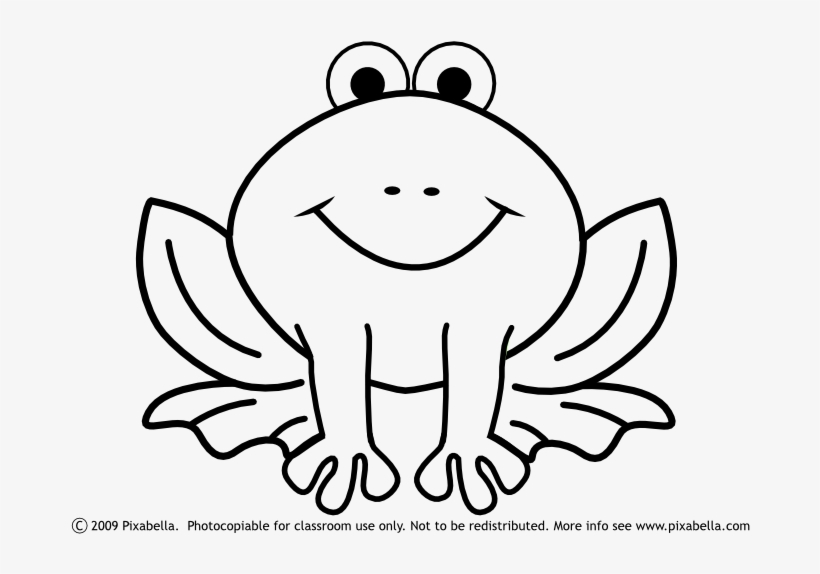 Frog and rose clipart black and white clipart black and white library Cute Frog Clipart Black And White Free Clipart - Easy Frog Coloring ... clipart black and white library