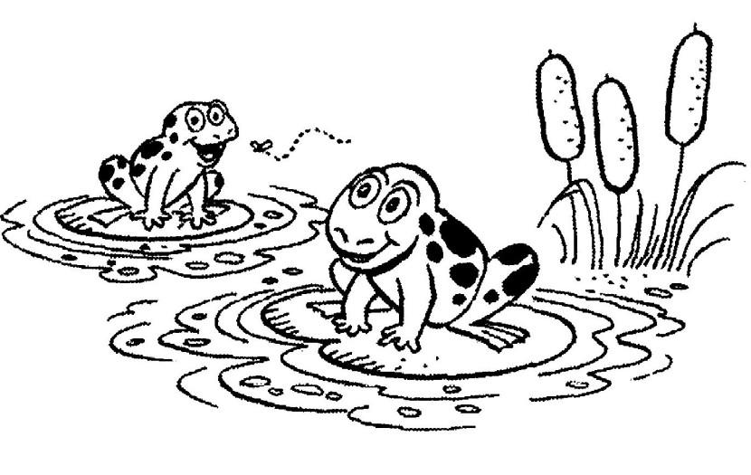 Frog and rose clipart black and white image library Lily Pad Clipart Black And White | Free download best Lily Pad ... image library