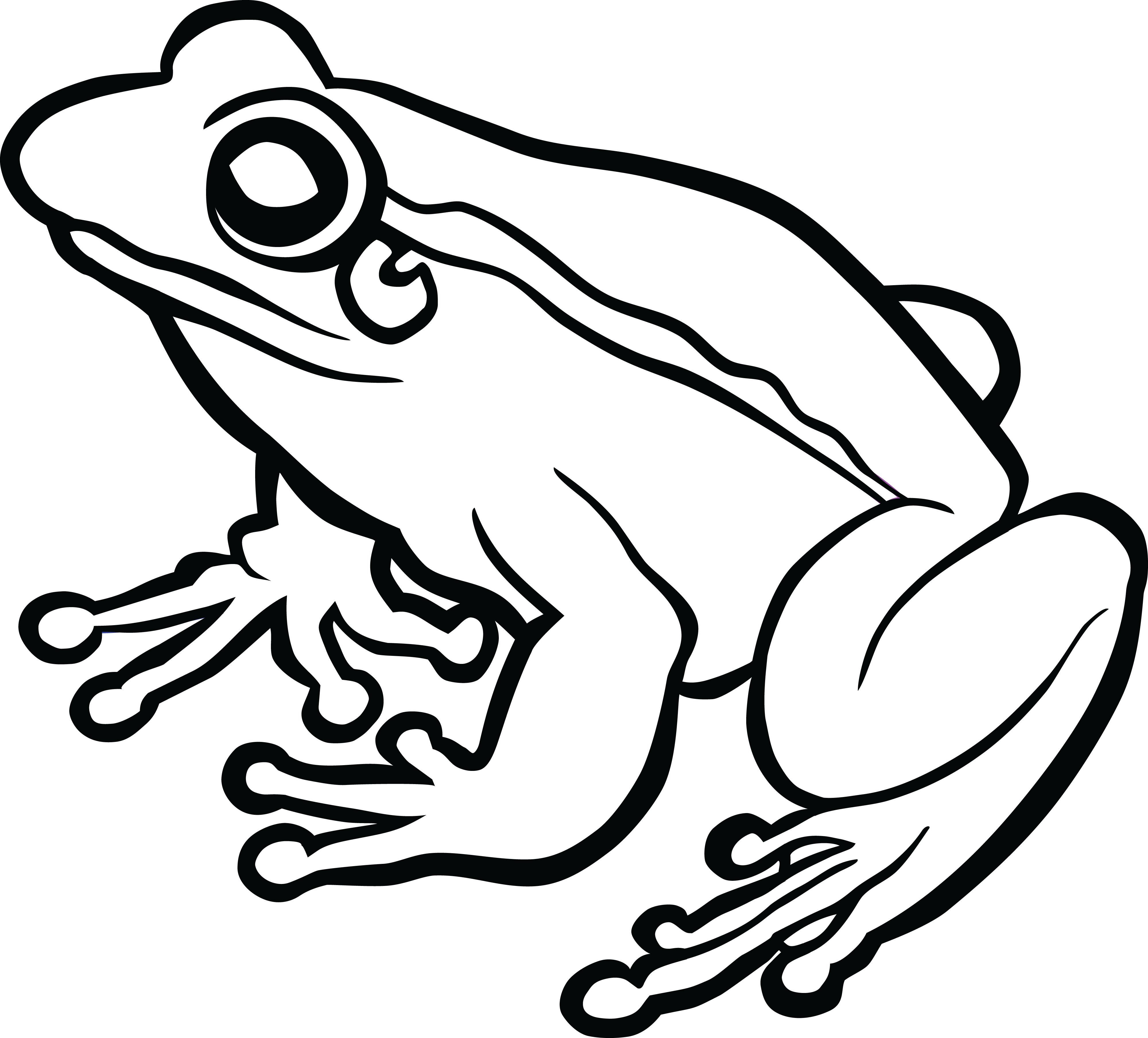 Frog and rose clipart black and white svg Toad PNG Black And White Transparent Toad Black And White.PNG Images ... svg