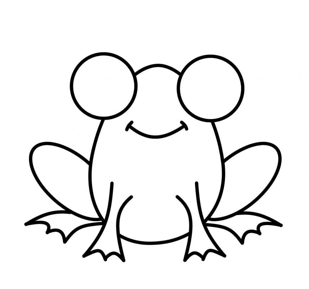 Frog clipart easy png stock Frog Sketch Easy at PaintingValley.com | Explore collection of Frog ... png stock