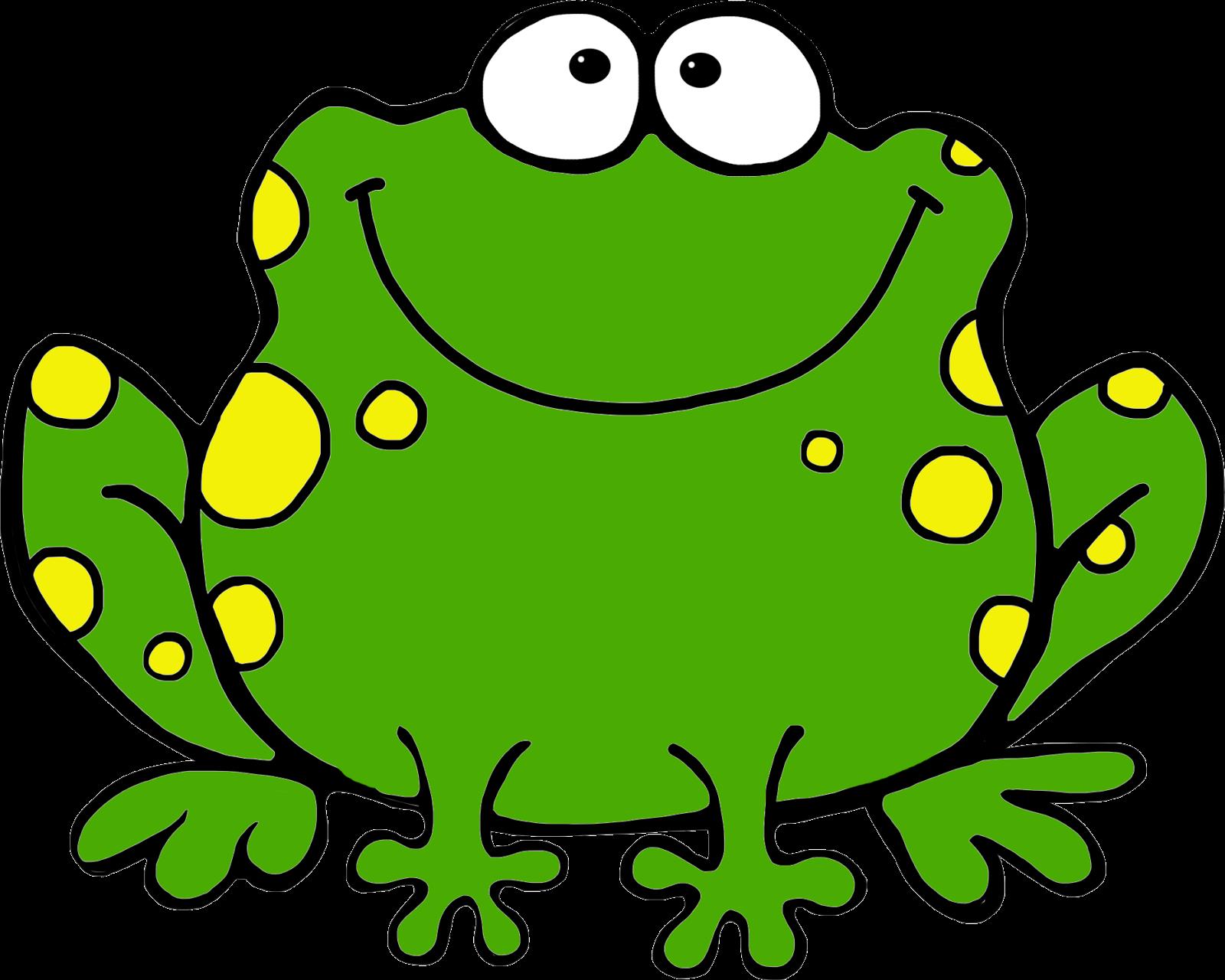 Girl frog clipart