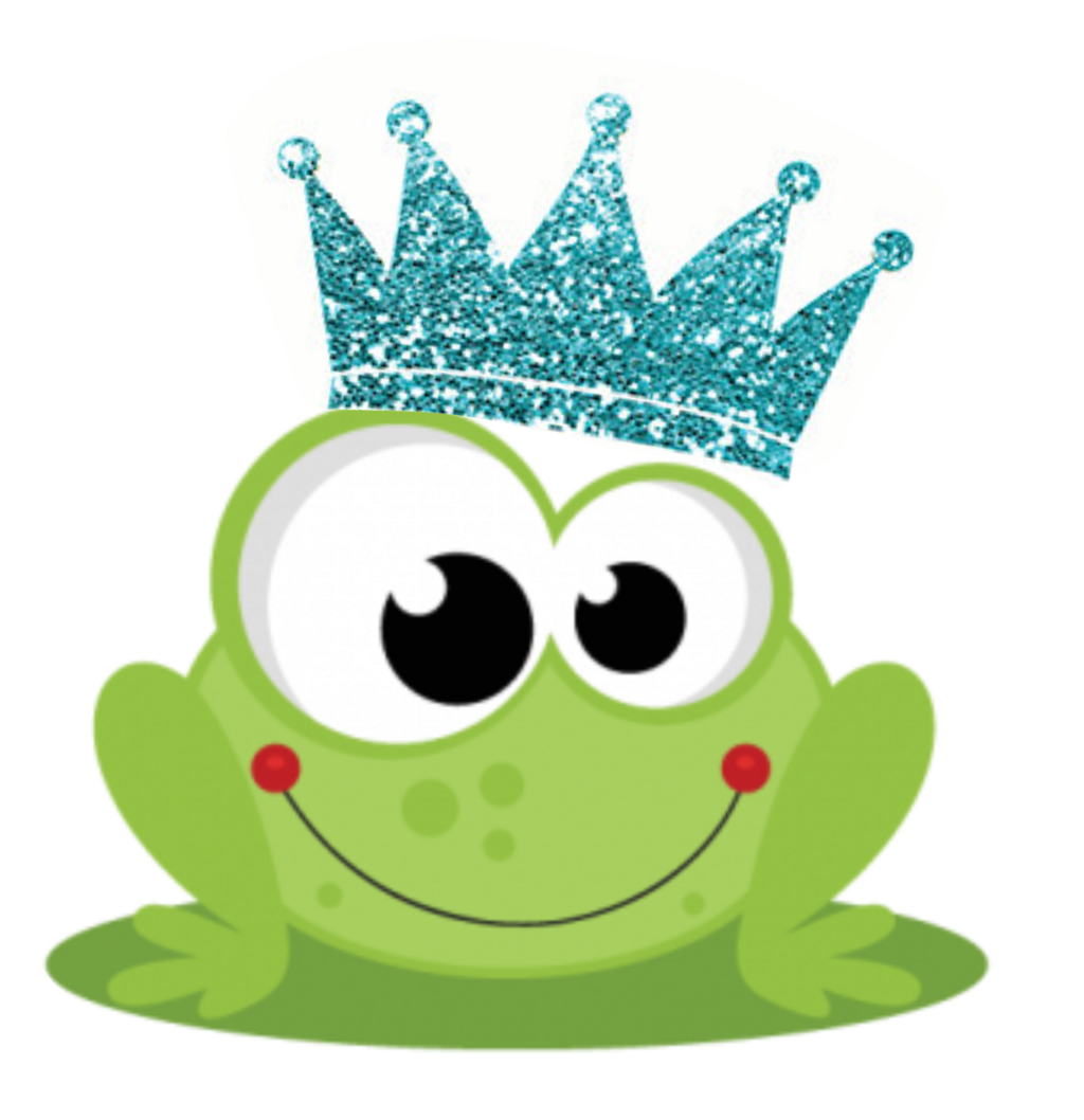 Frog in a crown clipart stock frog prince blue family glitter crown... stock