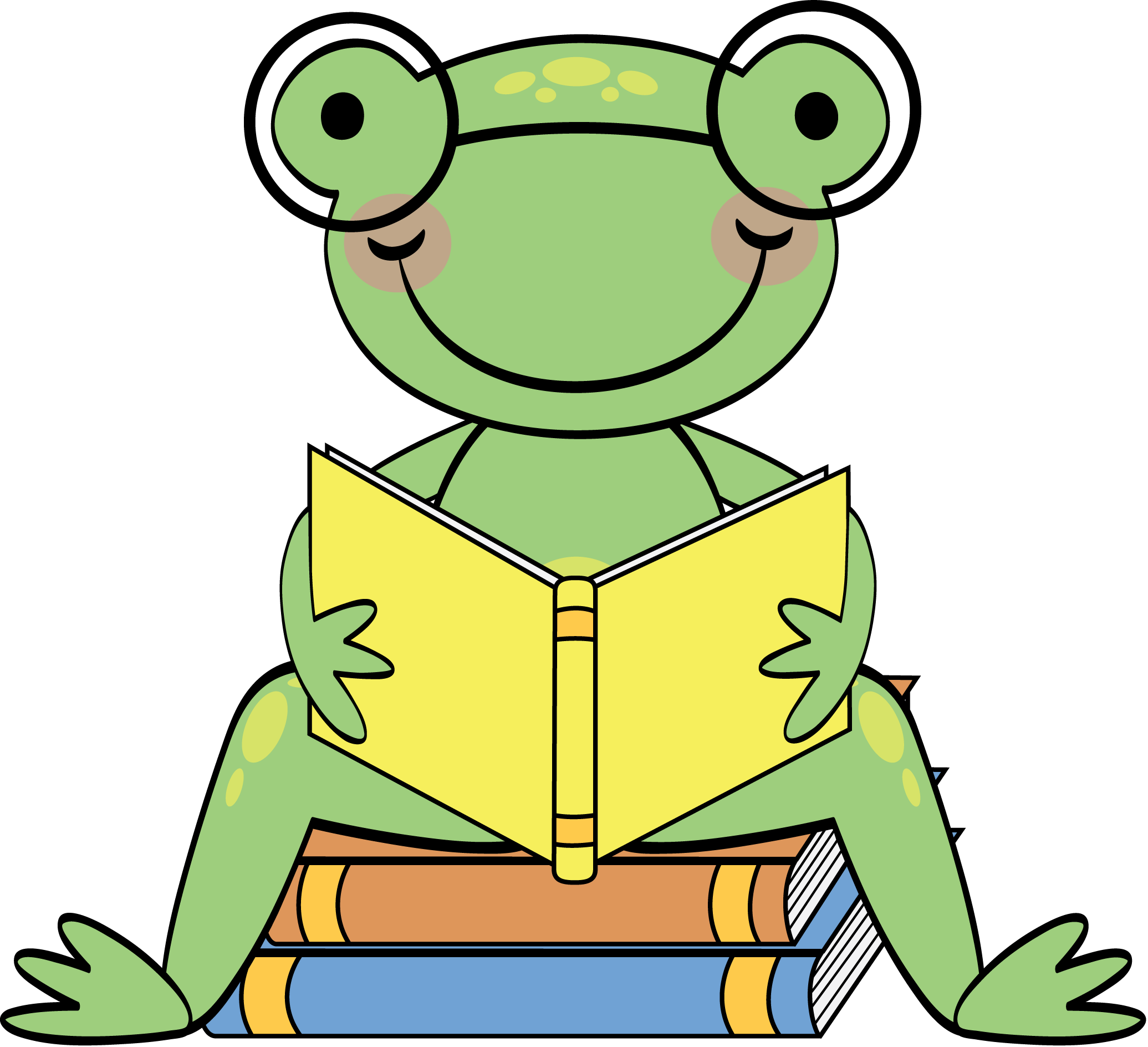 Frog in a crown clipart clip art library library http://sunnydaypublishing.com/books/ | All about books and reading ... clip art library library