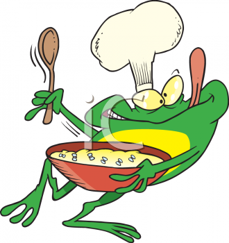 Frog food cliparts png transparent stock Cartoon Clipart Picture Of A Frog Chef Holding A Bowl Of Food ... png transparent stock